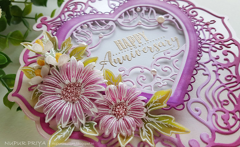 Easy Shaped Card with Asters_Nupur Priya_03