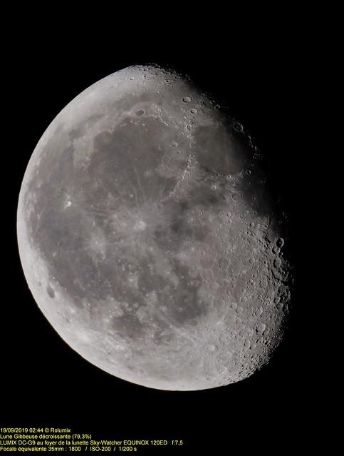 Lune Gibbeuse décroissante (79.3%)