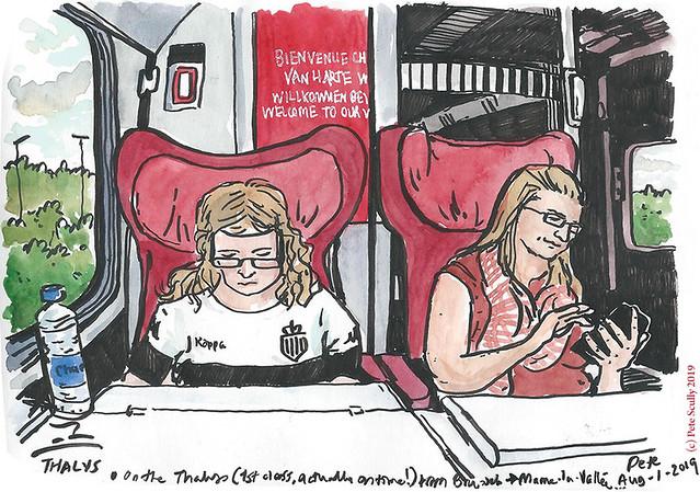 Belgium Thalys to Paris sm