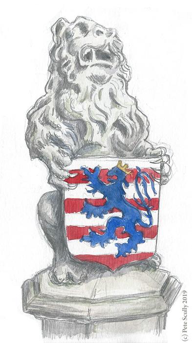 Bruges Lion Statue sm