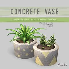 {Imeka} Concrete Vase