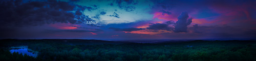 dusk fire tower nature outdoors landscape pano panorama panoramic new york ny grafton nikon d610 rwgrennan rgrennan ryan grennan outside sunset swamp panormaic clouds storm sky trees forest mist upstate rensselaer county view red blue pink