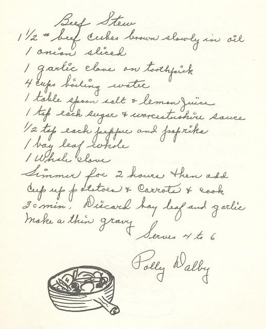 Blessed Sacrament Parish Cookbook circa 1960