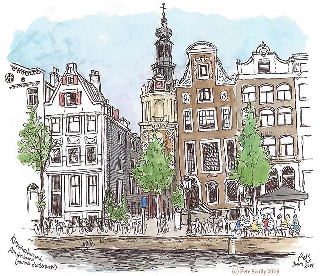 Zuiderkerk from Kloveniersburgwal sm