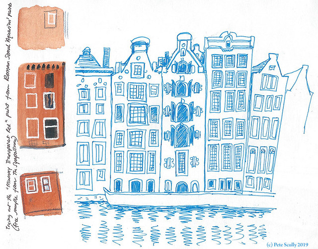 Amsterdam Buildings in Blue sm