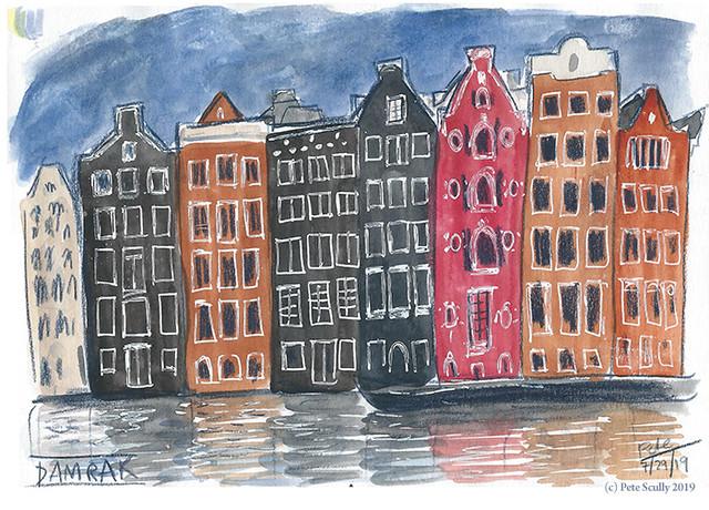 Amsterdam Buildings Damrak sm