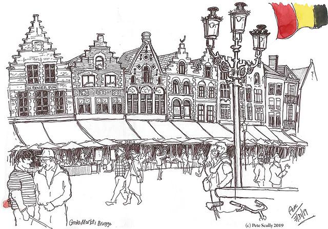 Bruges Grote Markt sm