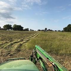 Laying it down #goodfarmstuff #makinghay #familyfarm #farmlife