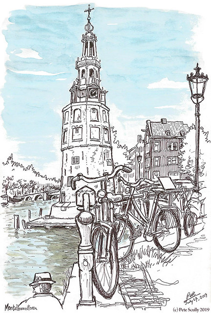 Amsterdam Montelbaanstoren sm