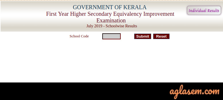 Kerala Plus One Improvement School Wise Result 2019