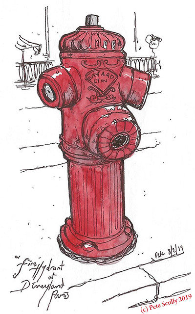 Disneyland Paris Fire Hydrant sm