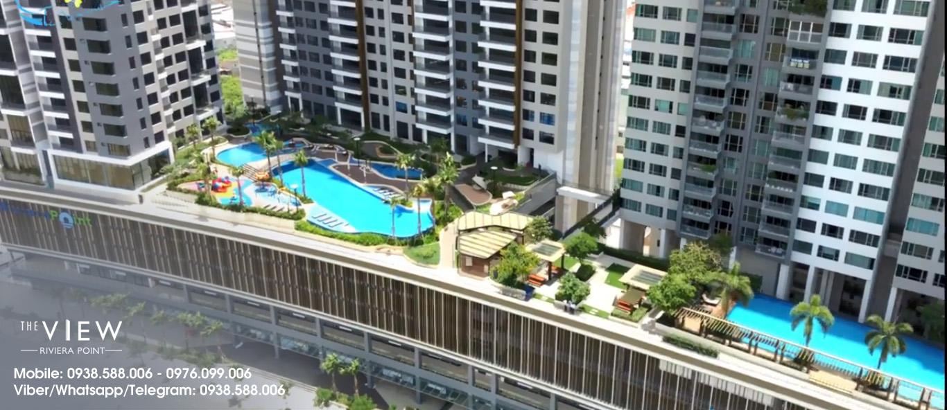 Cho thuê căn hộ The View - Riviera Point 2, 3 phòng ngủ, duplex mới bàn giao tại quận 7.