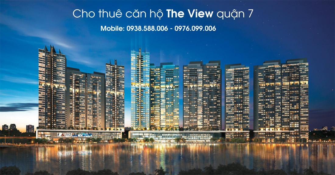 Cho thuê các loại căn hộ 2PN, 3PN tại dự án The View @ Riviera Point quận 7 - Keppel Land.