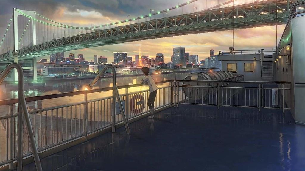 抵達東京的東海汽船,上為彩虹橋。