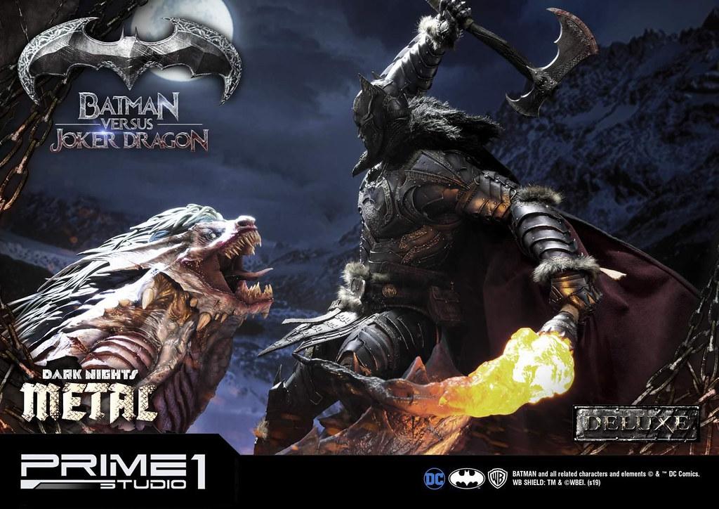 Prime 1 Studio《Dark Nights: Metal》蝙蝠俠 vs 小丑龍 バットマン vs ジョーカードラゴン MMDCMT-02 1/3 比例全身雕像作品 普通版/DX版