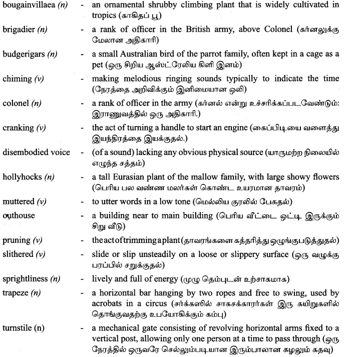 Tamilnadu Board Class 9 English Solutions Prose Chapter 2 I Cant Climb Trees Anymore - 9