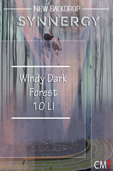 Synnergy Windy Dark Forest Backdrop