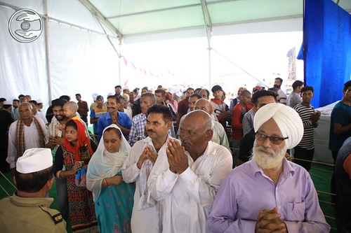 Devotees seeking blessings for the welfare
