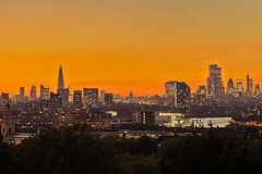 London heartbeat (City of London from Greenwich, London, United Kingdom)