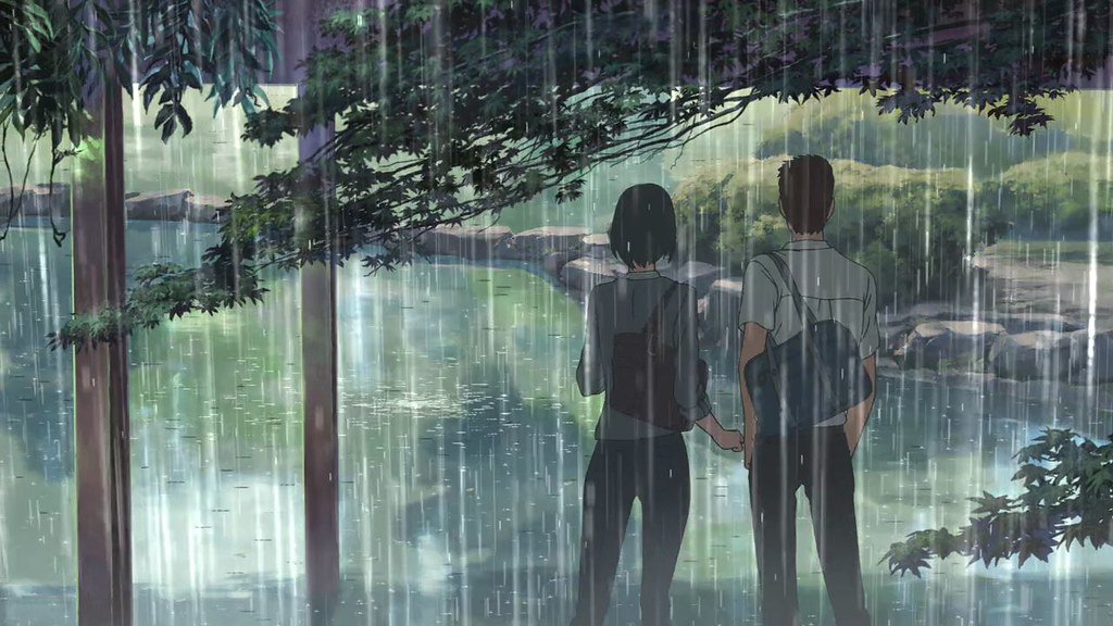 新海誠導演作品《言葉之庭》劇照。圖片來源:IMDb