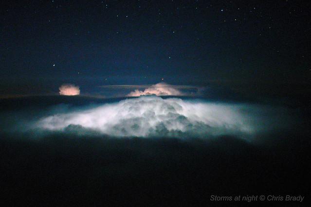 Storms at night