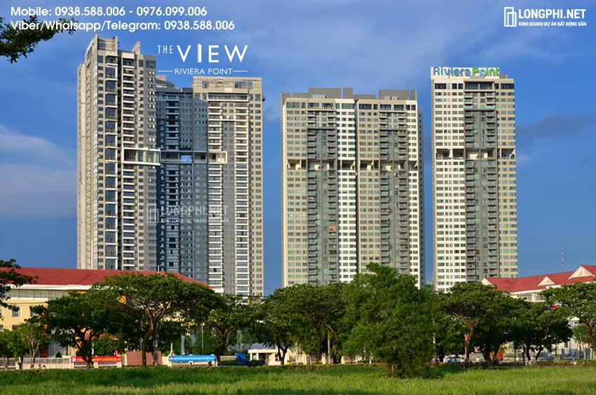 Ãnh thực tế căn hộ The View quận 7 cho thuê tại Riviera Point, góc nhìn từ Phú Mỹ Hưng.