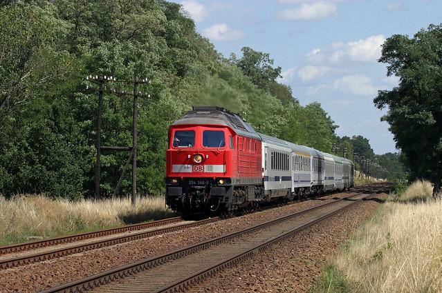 DB 234 346 + EC 46 Berlin Warszawa Express - Trebnitz - Umleitung über die Ostbahn