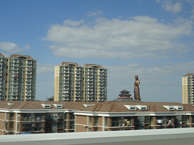 Huge sculpture - seen from the train while going 300 km/h