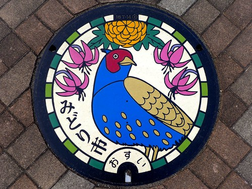 Midori Gunma, manhole cover (群馬県みどり市のマンホール)