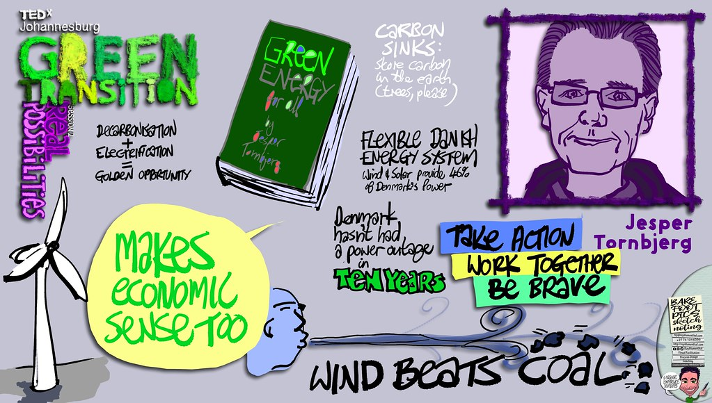 #TEDxJohannesburg #GreenTransitions #Sketchnotes Session 2 — 02 Jesper Tornbjerg