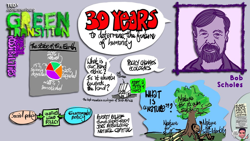 #TEDxJohannesburg #GreenTransitions #Sketchnotes Session 2 — 01 Bob Scholes