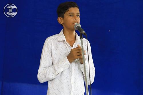 Vivek presented a Bhakti Geet, Hajipur, PB