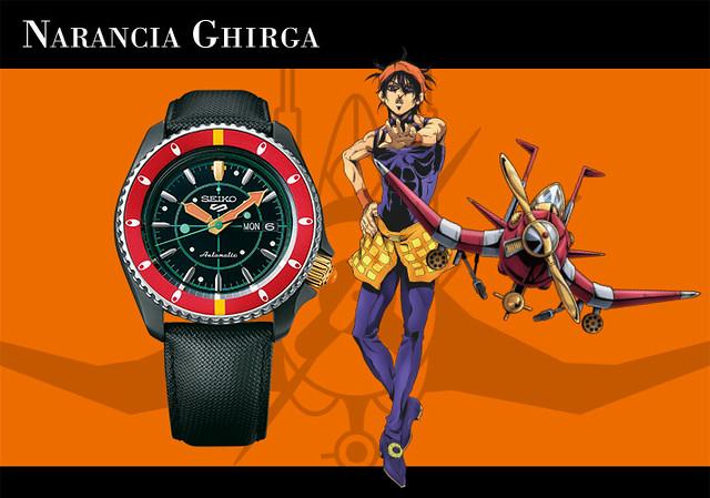 大膽地秀出你的替身風格!《JOJO 的奇妙冒險 黃金之風》與 SEIKO 5 SPORTS 聯名款手錶(セイコー 5スポーツ × ジョジョの奇妙な冒険 黄金の風 腕時計)