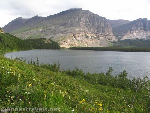 Views up Lake Sherburne along the Cracker Lake Trail, Glacier National Park, Montana