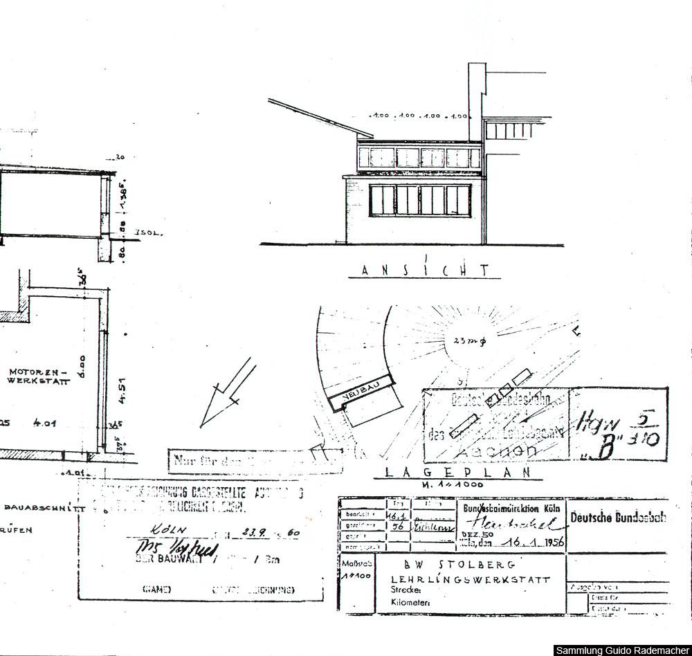 Neubau einer Lehrlingswerkstat 1956