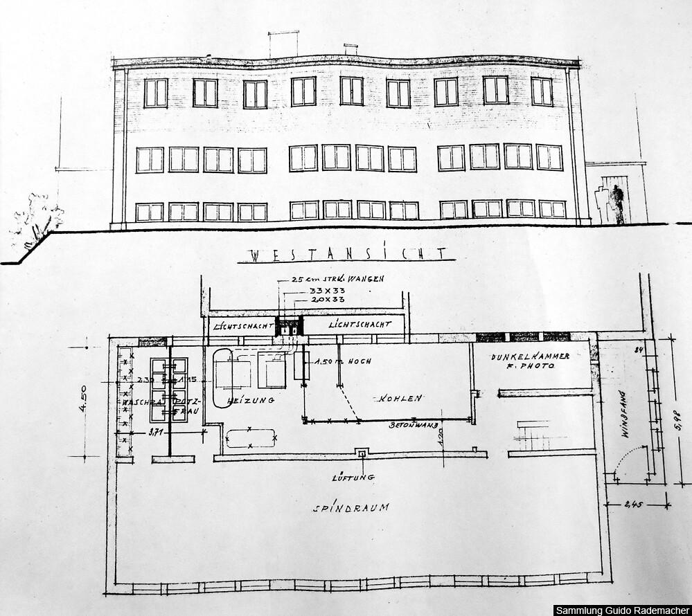Neubau einer Lehrlingswerkstatt 1956