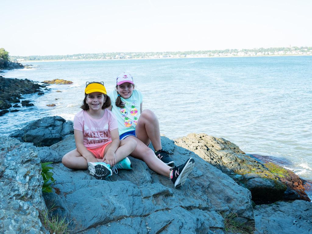 Sitting on some rocks