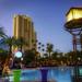Vivid Dusk Scene At MGM Grand Las Vegas Poolside - IMRAN™