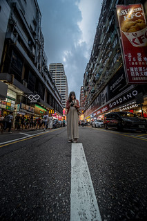 City with a girl