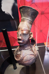 African carving showing body modification