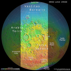 A slice of Mars in topographic context: Terra Sabaea and Arabia Terra