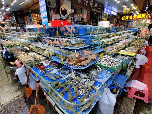 The Huangsha Seafood Market in Guangzhou, China
