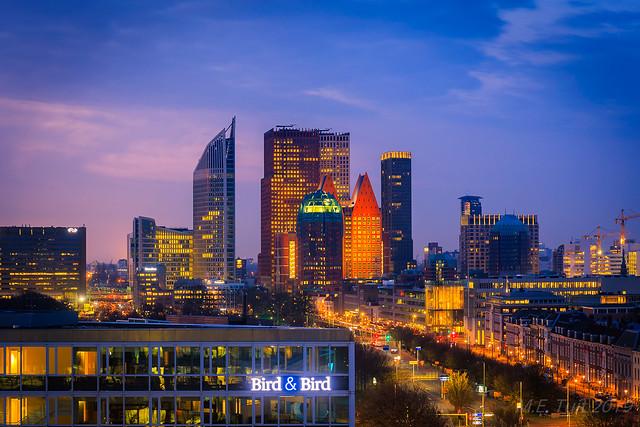 The Hague Skyline @ twilight