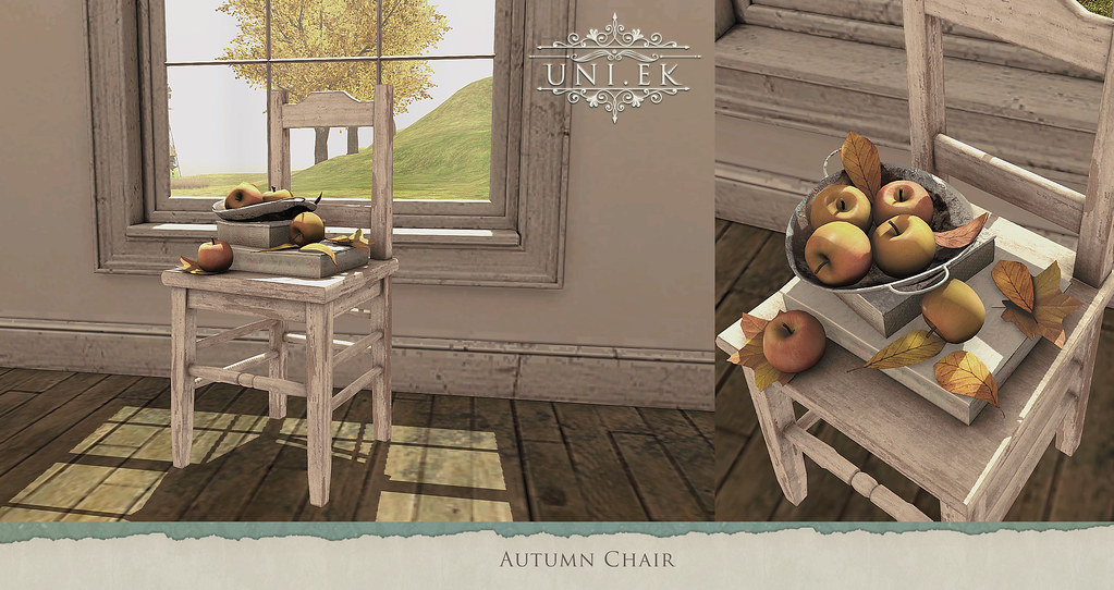 Autumn decorative chair