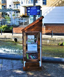 The Community Book Exchange By The Grand Union Canal In Brentford - London.