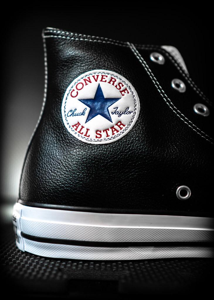Converse, Hi-top, Leather. . .