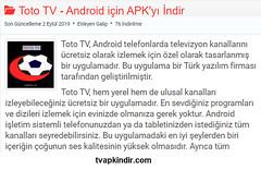 Toto Tv Android Uygulamayı Ücretsiz İndir - Tvapkindir