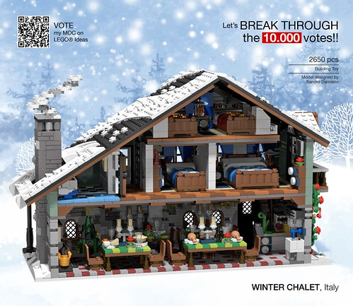 Winter Chalet (rear view with internals)