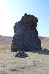Shuranga tsokhio and ovoo, Baruun Iret hiid, Mongolia