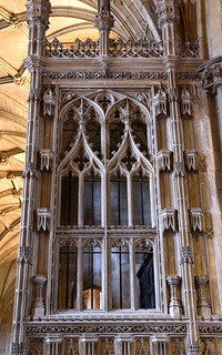 Winchester, Hampshire, cathedral, Fox chantry, detail